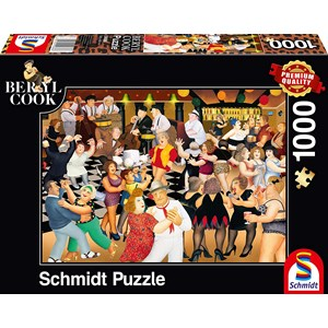 "Schmidt Spiele (59686) - Beryl Cook: ""Party Night"" - 1000 brikker puslespil"