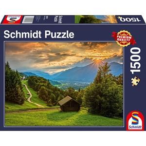 "Schmidt Spiele (58970) - ""Sunset on Wamberg"" - 1500 brikker puslespil"