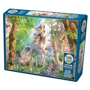 """Cobble Hill (85084) - David Penfound: """"Unicorn in the Woods"""" - 500 brikker puslespil"""