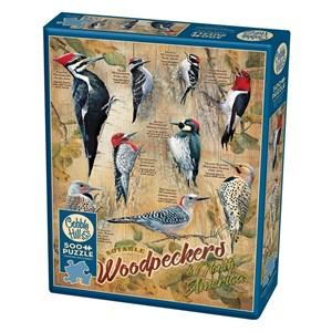 "Cobble Hill (85007) - Susan Bourdet: ""Notable Woodpeckers"" - 500 brikker puslespil"