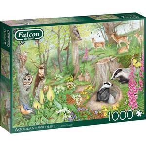 "Falcon (11322) - Anne Searle: ""Woodland Wildlife"" - 1000 brikker puslespil"