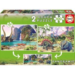 """Educa (15620) - Steve Read: """"Dino World"""" - 100 brikker puslespil"""
