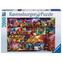 "Ravensburger (16685) - Aimee Stewart: ""World of Books"" - 2000 brikker puslespil"