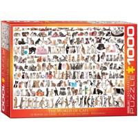 """Eurographics (6000-0580) - """"En Verden Af Katte"""" - 1000 brikker puslespil"""