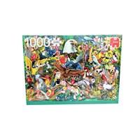 """Jumbo (18568) - """"Animal Kingdom"""" - 1000 brikker puslespil"""