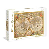 """Clementoni (32557) - """"Ancient Map, Petrus Plancius 1594"""" - 2000 brikker puslespil"""
