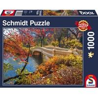 """Schmidt Spiele (58305) - """"Walk in Central Park New York City"""" - 1000 brikker puslespil"""
