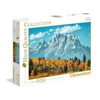 "Clementoni (35034) - ""Grand Teton in Fall"" - 500 brikker puslespil"