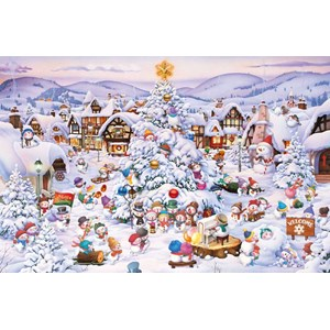 "Piatnik (566042) - François Ruyer: ""Christmas Choir"" - 1000 brikker puslespil"