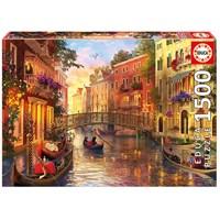 """Educa (17124) - Dominic Davison: """"Sunset In Venice"""" - 1500 brikker puslespil"""