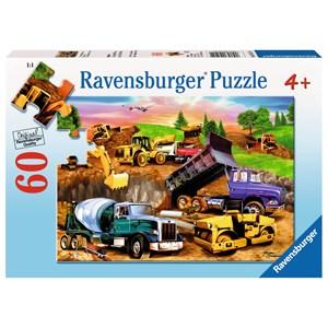 "Ravensburger (09525) - Michael Searle: ""Construction Crowd"" - 60 brikker puslespil"