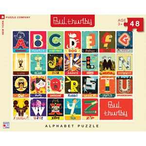 "New York Puzzle Co (PT1303) - Paul Thurby: ""Alphabet"" - 48 brikker puslespil"