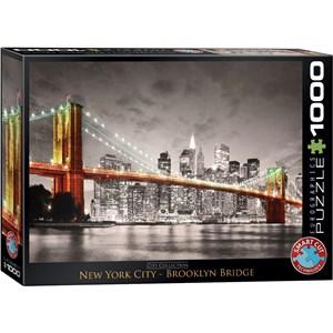 "Eurographics (6000-0662) - ""New York City Brooklyn Bridge"" - 1000 brikker puslespil"