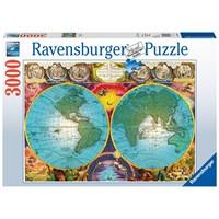 """Ravensburger (17074) - Tom Antonishak: """"Antikkens verdenskort"""" - 3000 brikker puslespil"""