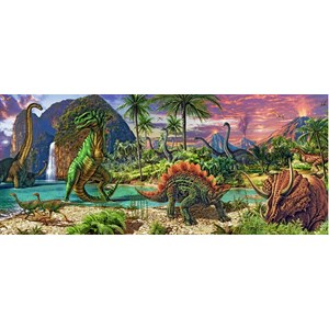 "Ravensburger (12747) - Steve Read: ""In the Land of the Dinosaurs"" - 200 brikker puslespil"