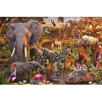 """Ravensburger (17037) - David Penfound: """"African Animal World"""" - 3000 brikker puslespil"""