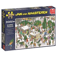 """Jumbo (19062) - Jan van Haasteren: """"Christmas Tree Market"""" - 2000 brikker puslespil"""