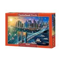 "Castorland (B-52646) - ""New York - Brooklyn Bridge"" - 500 brikker puslespil"