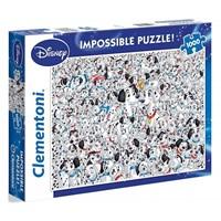 "Clementoni (39358) - ""Disney Dalmatian"" - 1000 brikker puslespil"