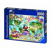 """Ravensburger (15785) - """"Disney World Map"""" - 1000 brikker puslespil"""