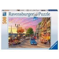 "Ravensburger (14505) - Dominic Davison: ""Evening in Paris"" - 500 brikker puslespil"
