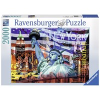 "Ravensburger (16687) - ""New York Kollage"" - 2000 brikker puslespil"